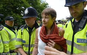 Green MP Caroline Lucas, arrested at Balcombe