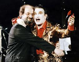 Bono with Salman Rushdie, U2 in 1993